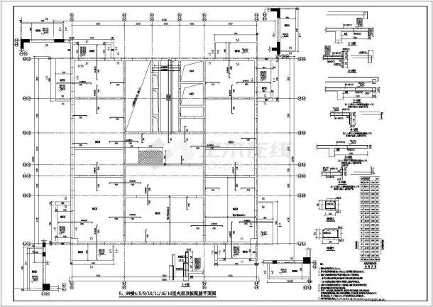 某地高层钢筋混凝土剪力墙结构设计图纸-图一