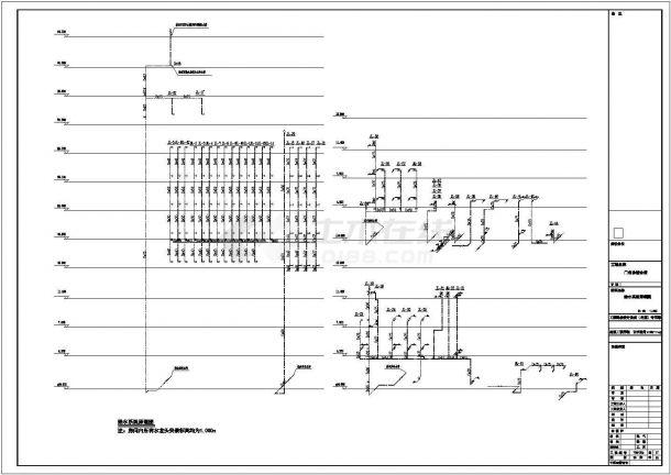 [安徽]11层医院综合楼给排水全套图纸-图一