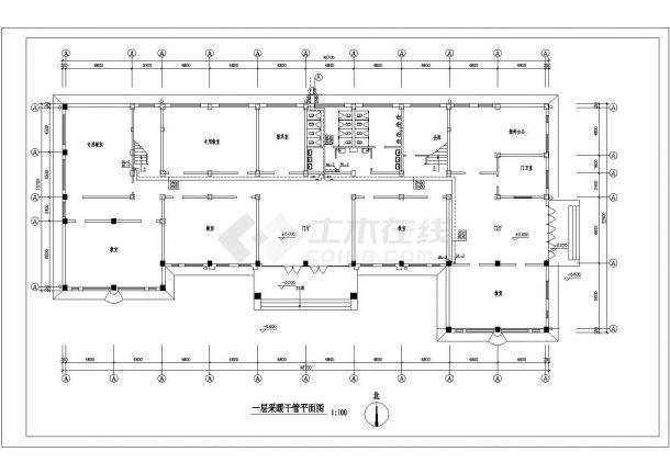 北京某3562㎡地上四层中学采暖图纸(地板辐射采暖系统)-图一