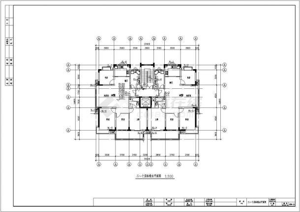 某地区小高层住宅给排水及消防设计图-图一
