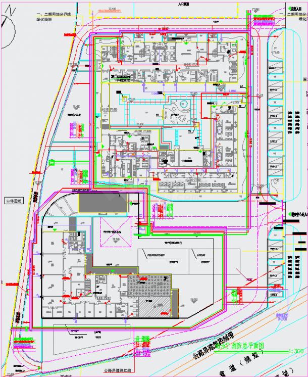 某儿童福利院避灾广场管线综合图纸-图二