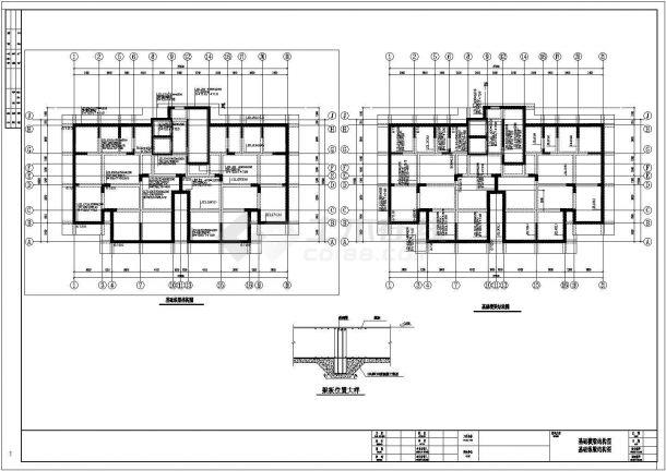 某十七层框架结构筏型基础住宅结构设计施工图-图二