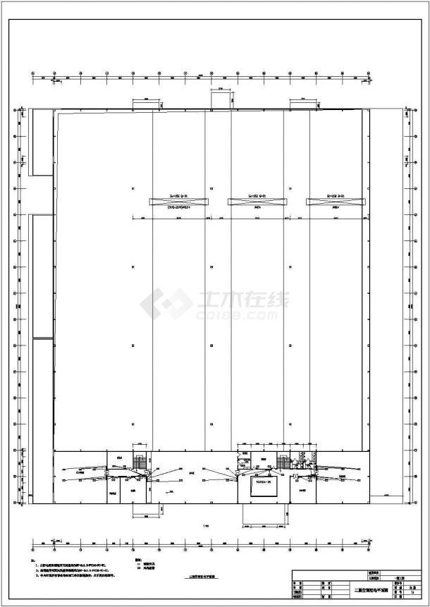 某地上二层工业厂房电气图纸(三级负荷,含设计说明)-图一