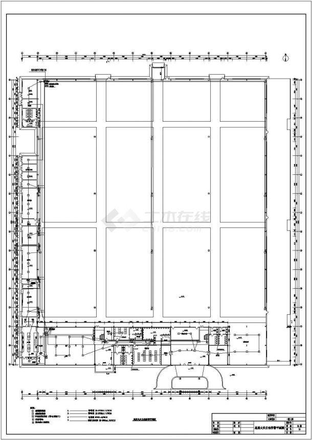 某地上二层工业厂房电气图纸(三级负荷,含设计说明)-图二