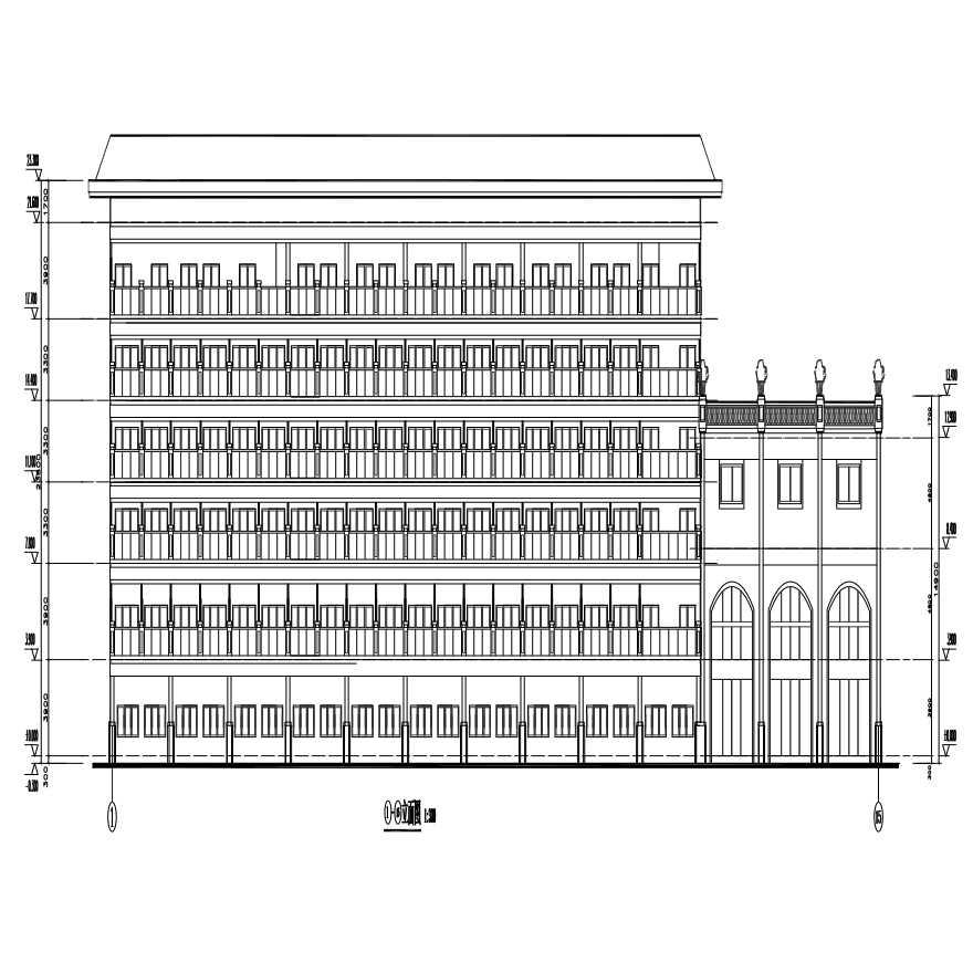 红海湾酒店建筑方案图-东南亚建筑风格酒店图片1