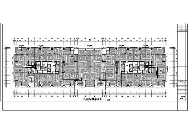 宁夏某二十三层公寓采暖施工图(地板辐射采暖)-图二