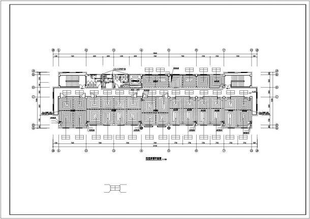 [山东]某8453㎡敬老院扩建项目地板辐射采暖系统施工图-图一