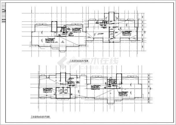 银川某22590㎡地上十八层商住楼采暖图纸(地板辐射采暖系统)-图一