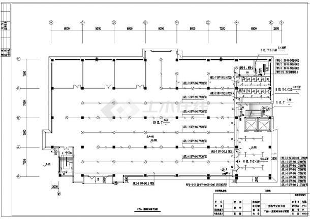某工业厂房电气施工图纸(含电气设计说明)-图一