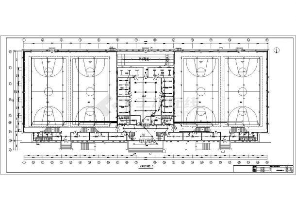 某5957㎡地上两层青少年活动中心电气施工图(二级负荷)-图一