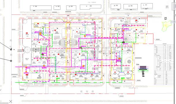 大型住宅小区工程室外管线综合布置图-图一