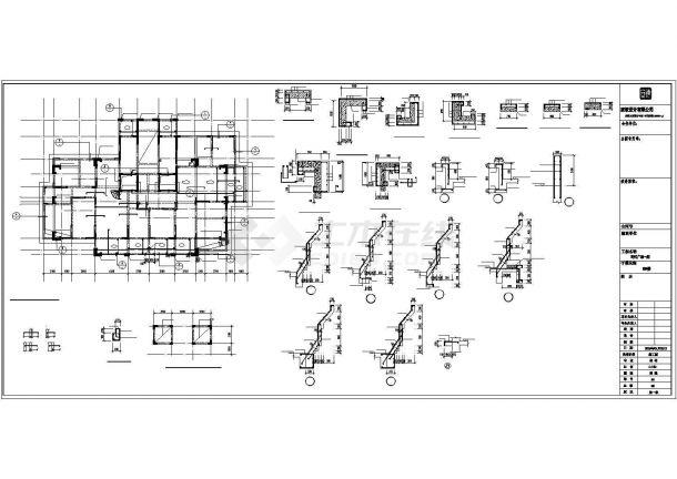 22层剪力墙结构高层住宅结构施工图(筏板基础)-图一