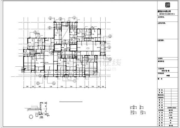 22层剪力墙结构高层住宅结构施工图(筏板基础)-图二