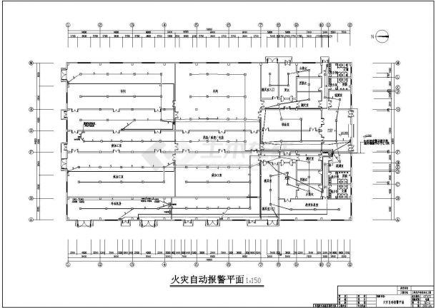 某单层工业厂房电气设计施工图纸-图二