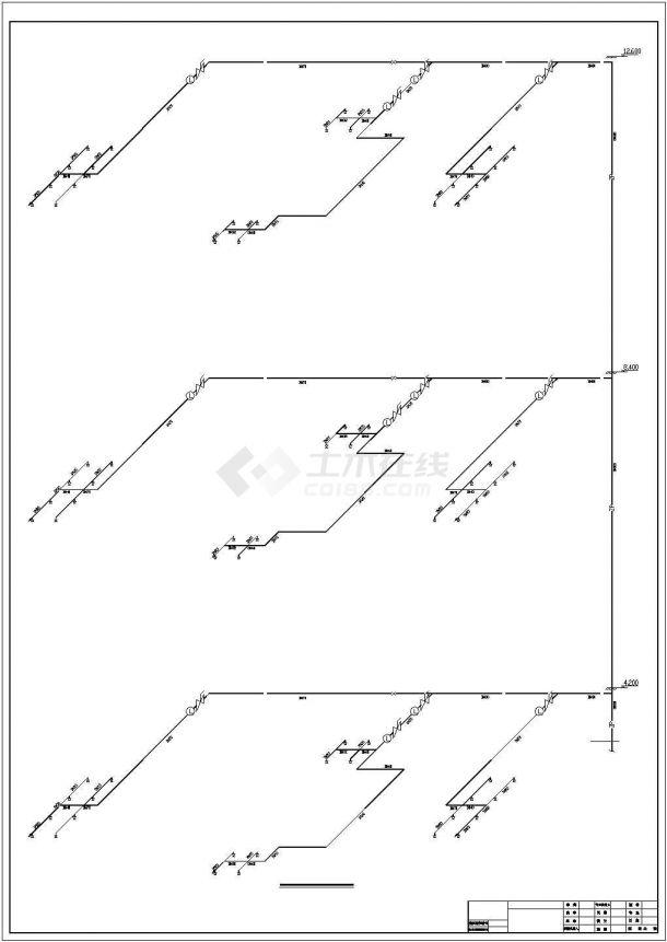 12000㎡四层批发市场建筑给排水图纸-图一