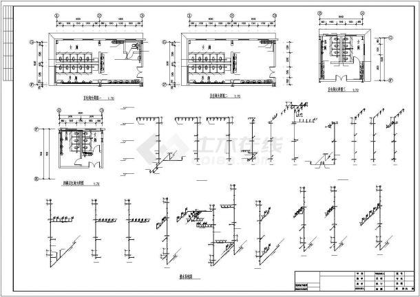 12000㎡四层批发市场建筑给排水图纸-图二