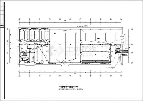 某二层厂房电气设计图纸,含照明设计-图一