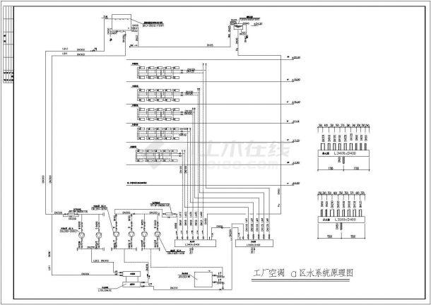 某小型厂房暖通设计施工CAD详图-图二