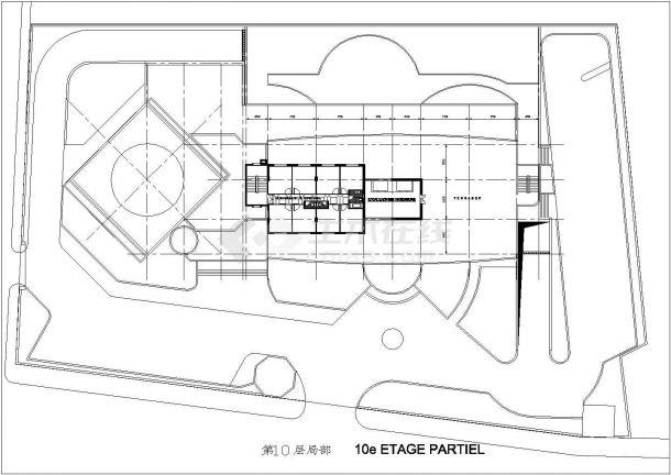 法国建筑师设计的宾馆建筑设计方案-图一