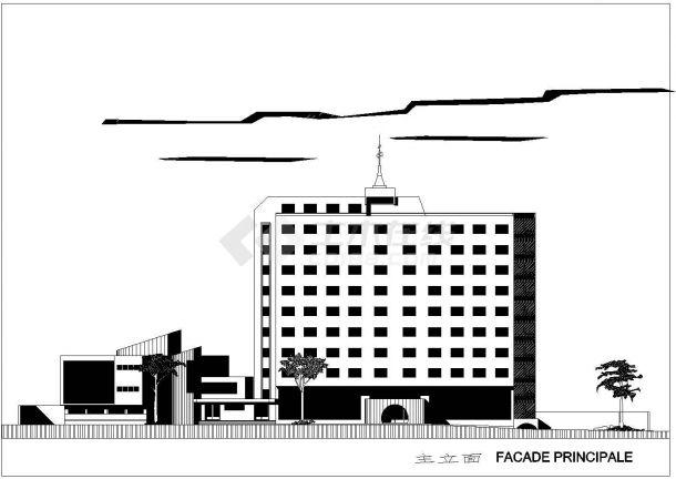 法国建筑师设计的宾馆建筑设计方案-图二