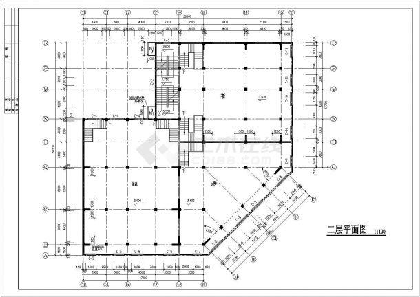 某居住区六层营宿楼建筑设计施工图-图二