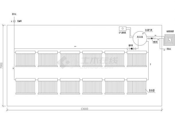 太阳能+空气源热泵低温辐射采暖施工图-图一