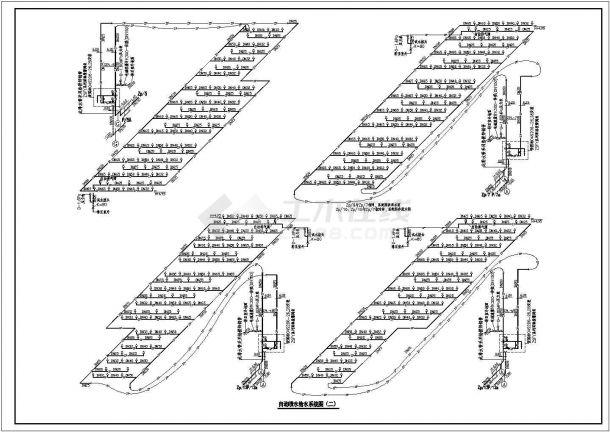 自动雨淋灭火系统、自动喷水灭火系统设计图纸-图二