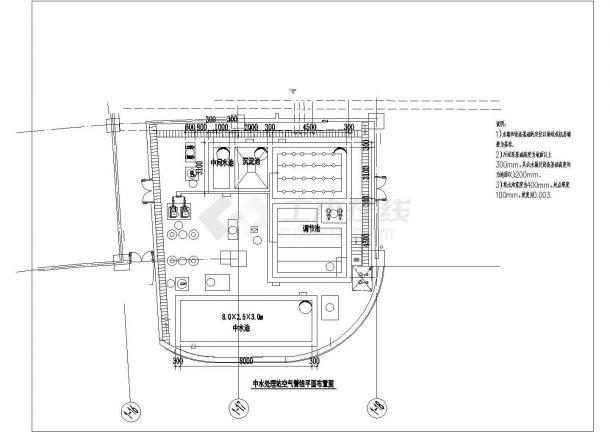 【上海】中水处理站建筑给排水图纸-图一