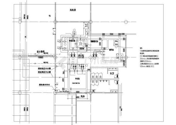 【上海】中水处理站建筑给排水图纸-图二