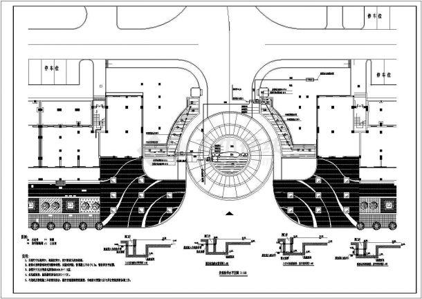某大门景观给排水电气设计图纸-图一