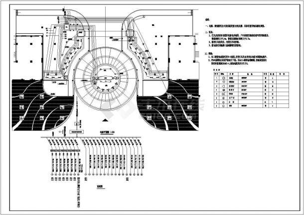 某大门景观给排水电气设计图纸-图二
