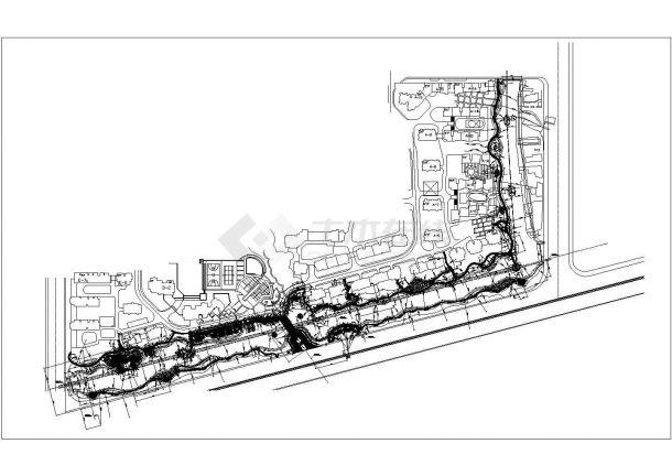 浙江某高档花园住宅小区园林景观施工图(图纸齐全)-图二