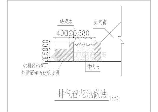 【广东】某小区门卫室和围墙大门施工图-图一