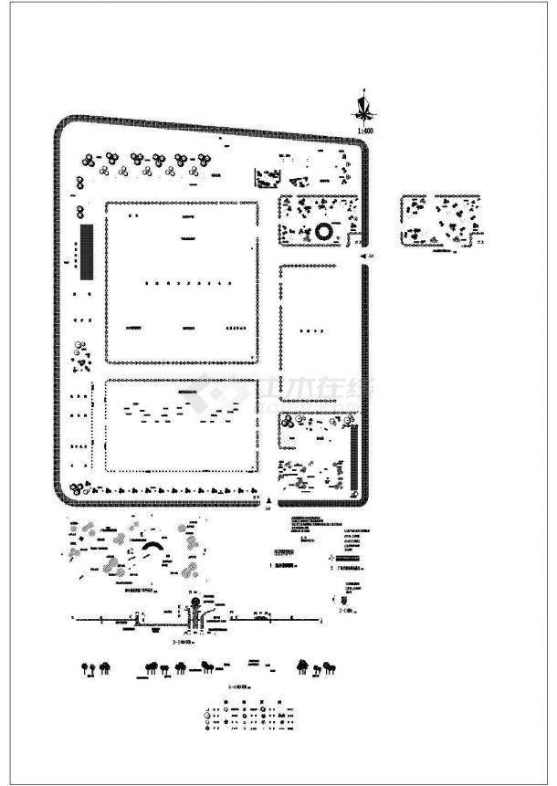 某著名企业厂区景观设计施工图-图一