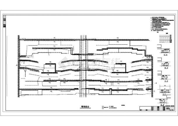某城市住宅小区管线综合平面图-图一