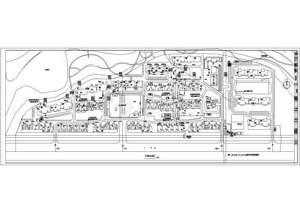 [保定]某小区室外管线综合图-图一