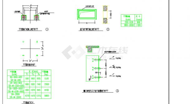 某地区小型2000变压器电气设计图纸-图一