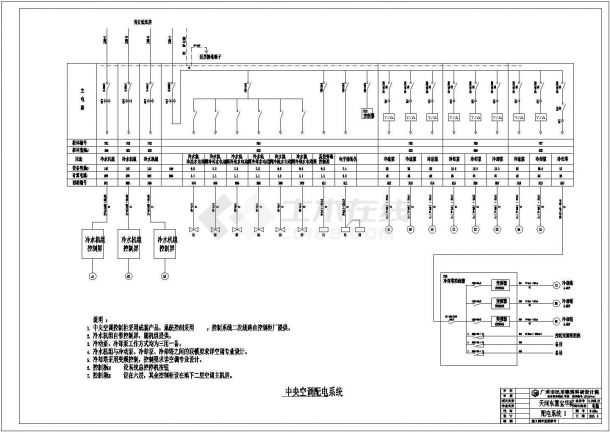 某地区住宅楼建筑动力配电系统图纸-图一