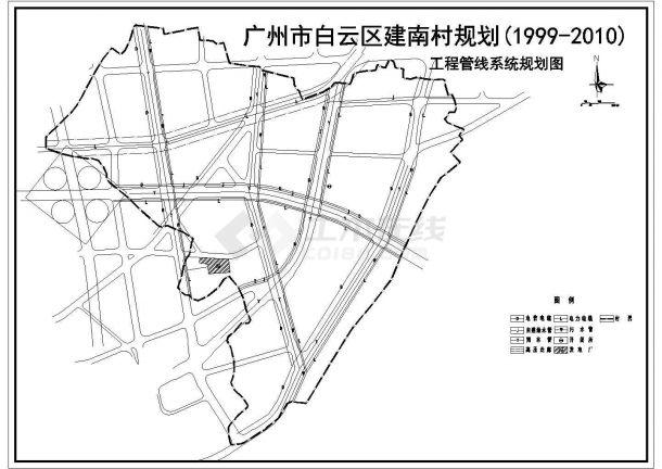 某地区工程管线系统景观规划图(含图例)-图一