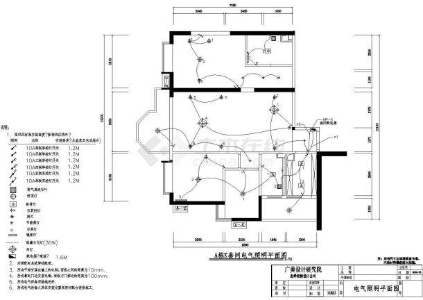 广场k型建筑电气设计cad图-图二