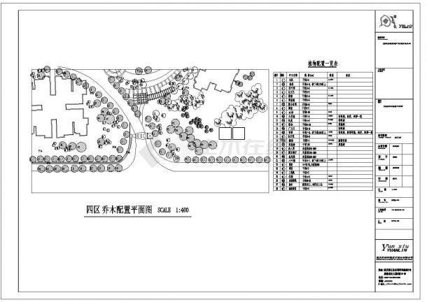 重庆高档小区园林景观工程施工图-图一