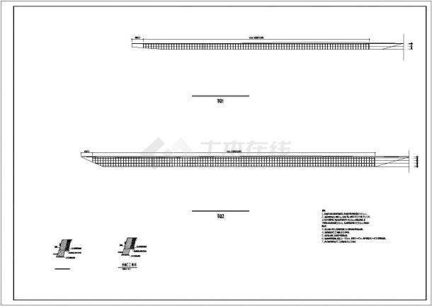 边坡锚杆挡墙设计cad图-图二