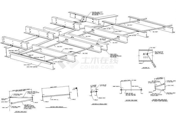 [节点详图]钢结构安装详图-图一