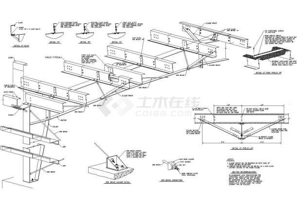 [节点详图]钢结构安装详图-图二