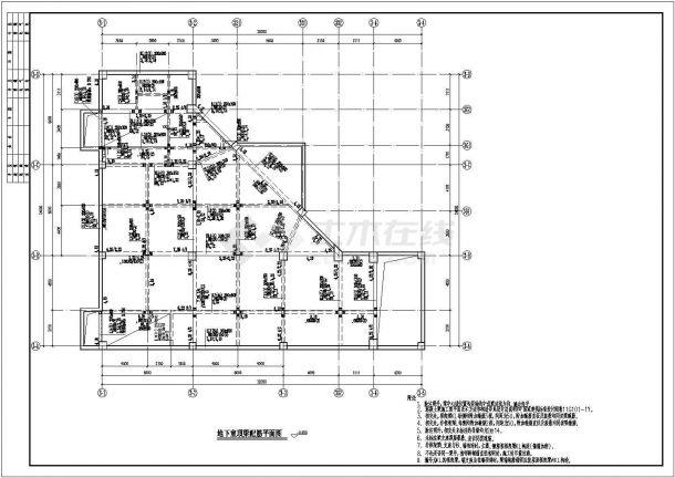 繁华的框架结构二层商业街商铺全套结构cad施工图(独立基础,说明齐全)-图二