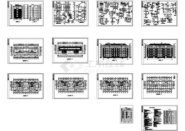 典型小型六层住宅公寓楼建筑图(含设计说明)  总建筑面积:3232.08M2-图一