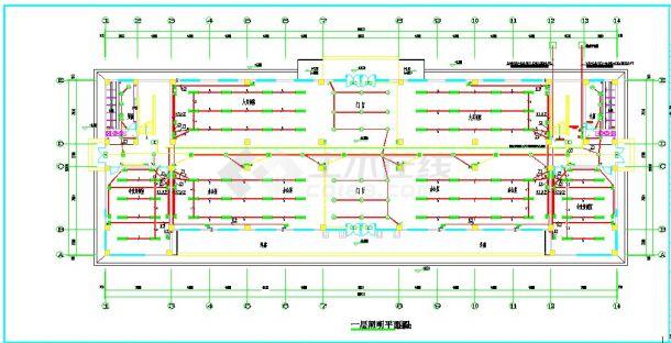 5套多层教学楼电气设计施工CAD图纸-图一