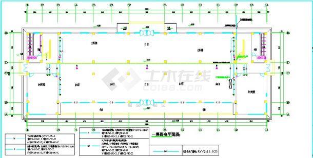 5套多层教学楼电气设计施工CAD图纸-图二