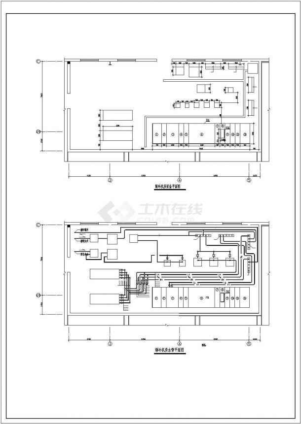 某辅料车间GMP建设工程制冷机房布置图-图二