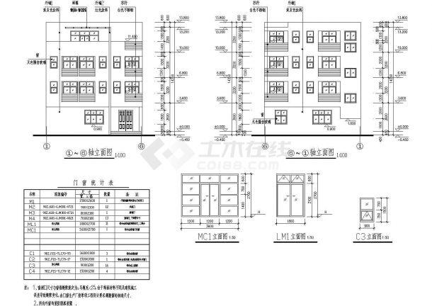 平屋面建筑构造 一_平屋顶4层独栋别墅建筑和结构cad施工图(含效果图) - 土木在线